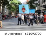 Small photo of BRISBANE, AUSTRALIA - APRIL 25, 2017: Veterans submariners march in the ANZAC parade.