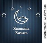ramadan kareem is a beautiful... | Shutterstock .eps vector #631095638