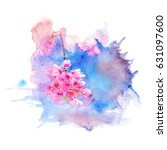 watercolor painting... | Shutterstock . vector #631097600
