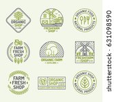 organic shop and farm fresh... | Shutterstock .eps vector #631098590