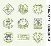 organic shop and farm fresh... | Shutterstock .eps vector #631098590