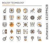 biology technology elements  ... | Shutterstock .eps vector #631099628