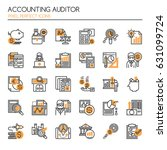 accounting auditor elements  ... | Shutterstock .eps vector #631099724