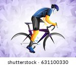 cyclist stylized vector ... | Shutterstock .eps vector #631100330