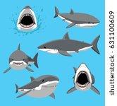 great white shark six poses... | Shutterstock .eps vector #631100609