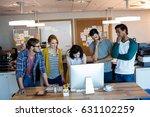 creative business team working... | Shutterstock . vector #631102259