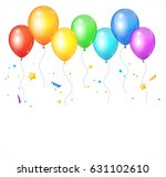 realistic balloon set isolated... | Shutterstock .eps vector #631102610