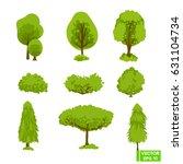 vector image. a set of green... | Shutterstock .eps vector #631104734