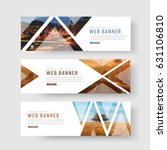 set of horizontal white banners ... | Shutterstock .eps vector #631106810