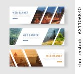 template of white web banners... | Shutterstock .eps vector #631106840