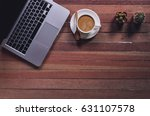 office stuff and it gadgets... | Shutterstock . vector #631107578