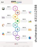 infographics design template  ... | Shutterstock .eps vector #631112588