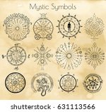 big set with mystic and occult... | Shutterstock .eps vector #631113566