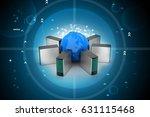 3d illustration of global...   Shutterstock . vector #631115468