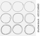 set of hand drawn circle...   Shutterstock .eps vector #631116860