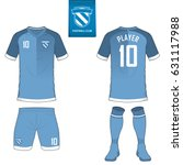 set of soccer kit or football... | Shutterstock .eps vector #631117988