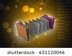 3d illustration of office... | Shutterstock . vector #631120046