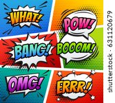 comic sound effect speech... | Shutterstock .eps vector #631120679