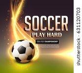 abstract soccer sports flyer...   Shutterstock .eps vector #631120703
