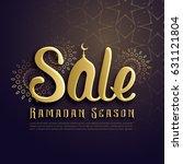 ramadan season sale poster... | Shutterstock .eps vector #631121804