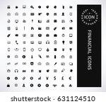 financial icon set clean vector | Shutterstock .eps vector #631124510