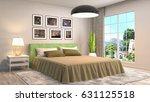 bedroom interior. 3d... | Shutterstock . vector #631125518