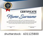 vector certificate or diploma... | Shutterstock .eps vector #631125800