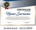 vector certificate or diploma... | Shutterstock .eps vector #631125800