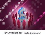 3d illustration of people... | Shutterstock . vector #631126130
