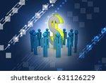3d illustration of people... | Shutterstock . vector #631126229