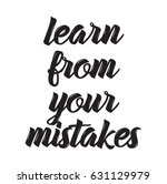 learn from your mistakes  quote ... | Shutterstock .eps vector #631129979