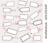 hand drawn  cute gift labels or ... | Shutterstock .eps vector #631132169