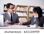 business couple having... | Shutterstock . vector #631134959