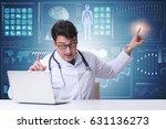 doctor in telemedicine concept... | Shutterstock . vector #631136273