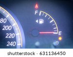 empty of fuel gauge indicator... | Shutterstock . vector #631136450