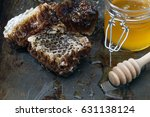 honey background. natural honey ... | Shutterstock . vector #631138124