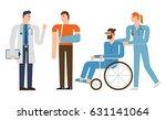 flat design characters set ... | Shutterstock .eps vector #631141064
