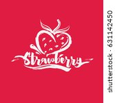 strawberry logo vector paint... | Shutterstock .eps vector #631142450
