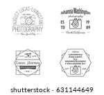 vintage line photography badges ... | Shutterstock . vector #631144649