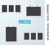 illustration of poster mockup... | Shutterstock . vector #631144940