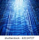 blue circuit board | Shutterstock . vector #63114727