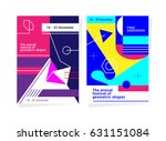 abstract geometric background... | Shutterstock .eps vector #631151084