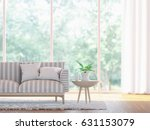 modern living room close up  3d ... | Shutterstock . vector #631153079
