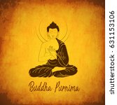 illustration of buddha purnima... | Shutterstock .eps vector #631153106