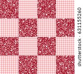 flower patchwork pattern   Shutterstock .eps vector #631155260