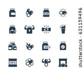 sport supplements vector icon... | Shutterstock .eps vector #631159496