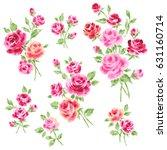 rose illustration object | Shutterstock . vector #631160714