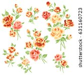 rose illustration object | Shutterstock . vector #631160723