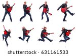 guitar player isolated on white | Shutterstock . vector #631161533