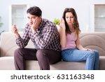 young family in broken... | Shutterstock . vector #631163348
